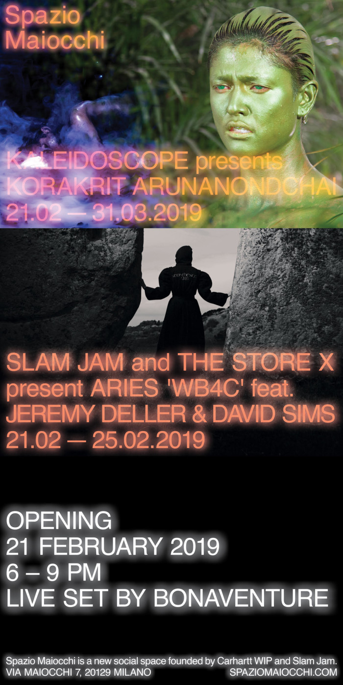 Opening Kaleidoscope presents Korakrit Arunanondchai + Slam Jam & The Store X Vinyl Factory present Aries' WB4C feat. Jeremy Deller and David SIims