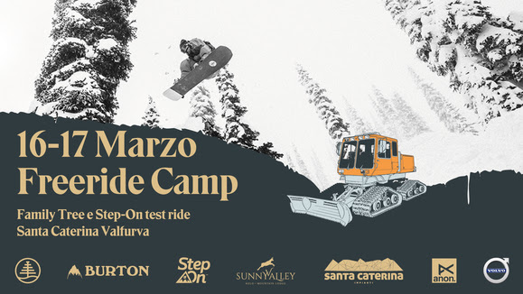 Burton Freeride Camp || 16-17 Marzo || Santa Caterina Valfurva