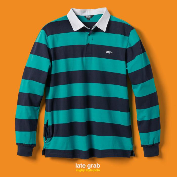 late grab striped polo edit