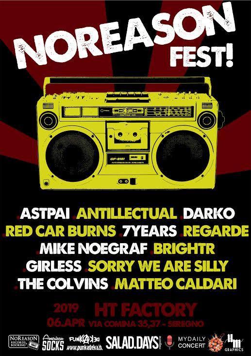 NoReason Fest compilation e lineup completa