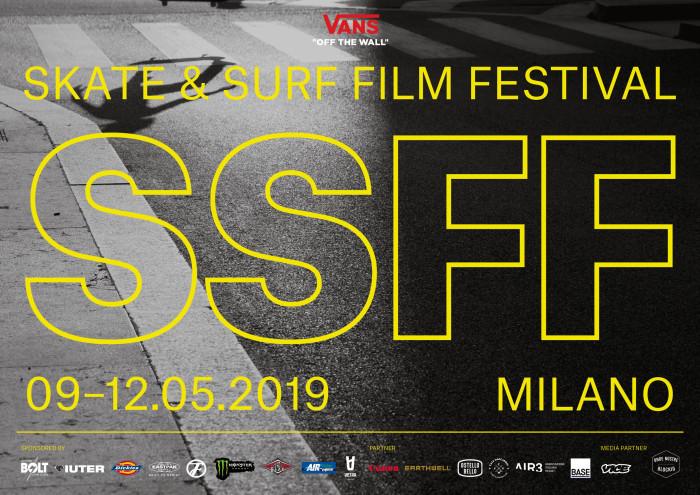 SSFF 2019 terza edizione di Skate & Surf Film Festival, dal 9 al 12 Maggio