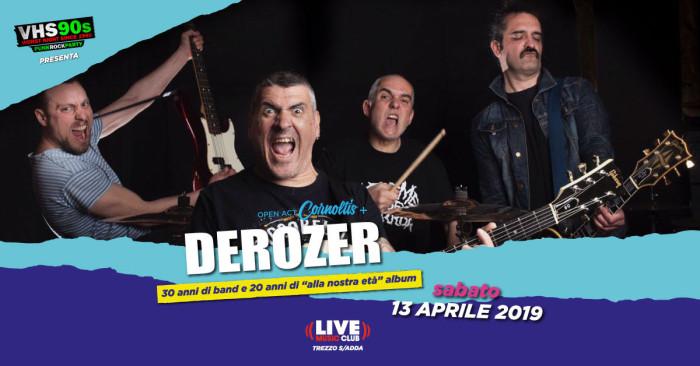 Derozer unico esclusivo concerto al Live Music Club Trezzo Sull'Adda