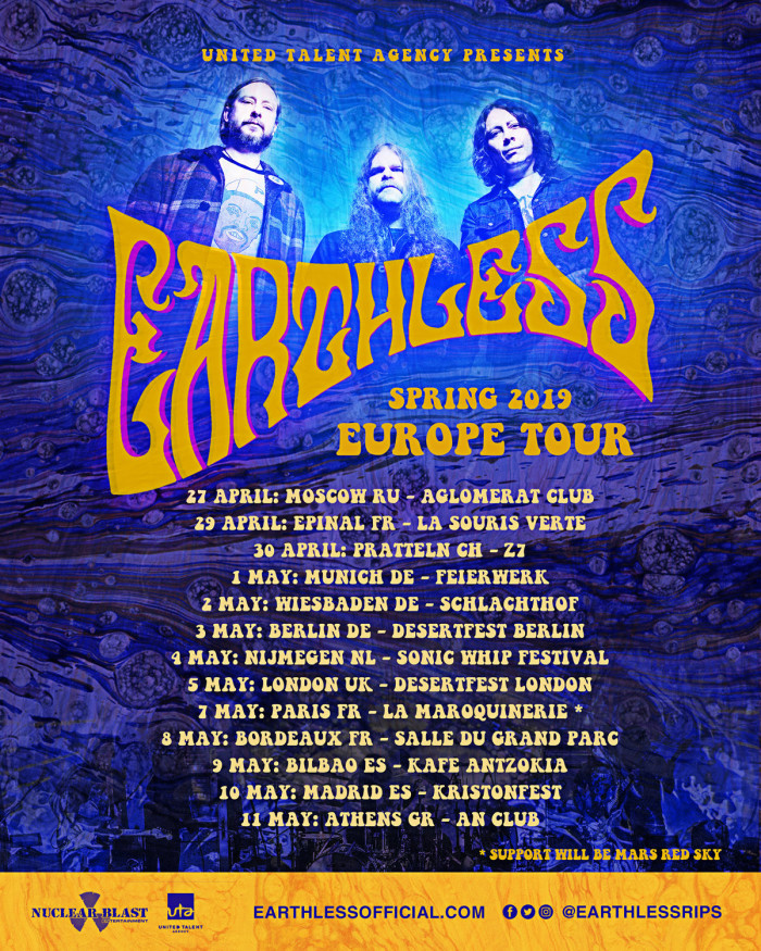 Earthless lanciano il video dell'esibizione 'Black Heaven' Ursa Polaris Sessions a supporto del tour europeo