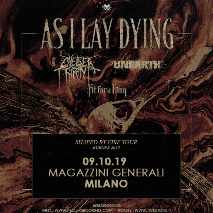 As I Lay Dying: unica data in Italia!