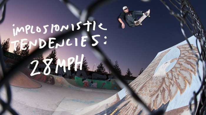 Antihero Skateboards 'Implosionistic Tendencies: 28 MPH'