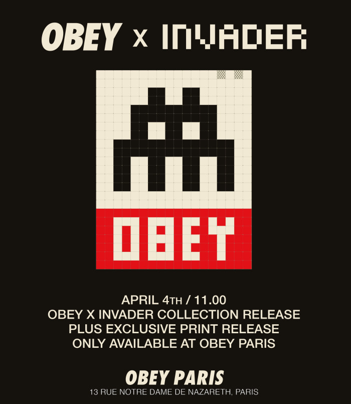 Obey x Invader Paris store release