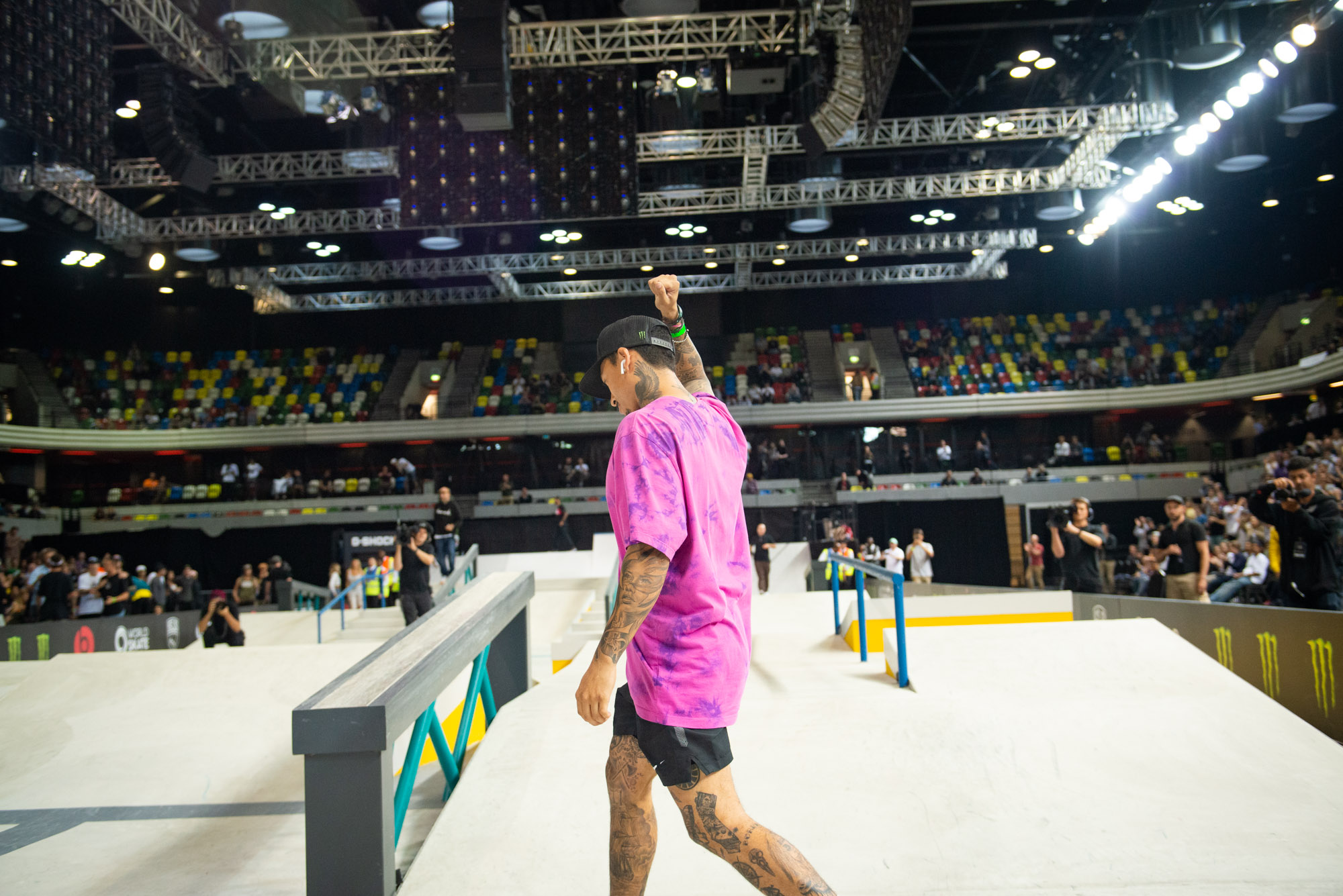 Monster Energy's Nyjah Huston takes 1st Place at SLS World Tour Stop