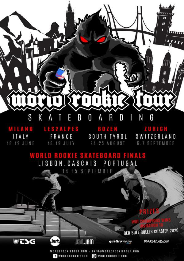 The Black Yeti announces the World Rookie Tour Skateboarding
