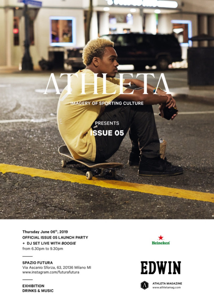 AIlo Spazio Futura il lancio di Athleta Magazine Issue 5powered by Edwin