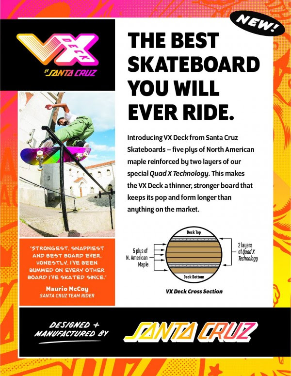 "Nuove Santa Cruz VX – ""The Best Skateboard You Will Ever Ride"""