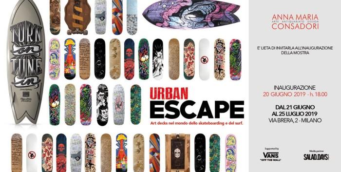 La Galleria Anna Maria Consadori inaugura la mostra 'Urban Escape'