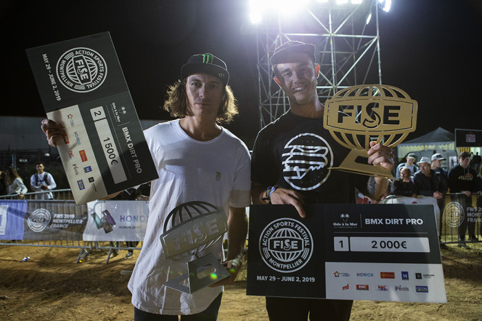 Pat Casey and Leandro Moreira take 1st and 2nd in Dirt at FISE Montpellier