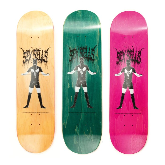 Kaleidoscope Skateboard Co. x Horsefeathers x Helgasons present The Sex Sells Collab