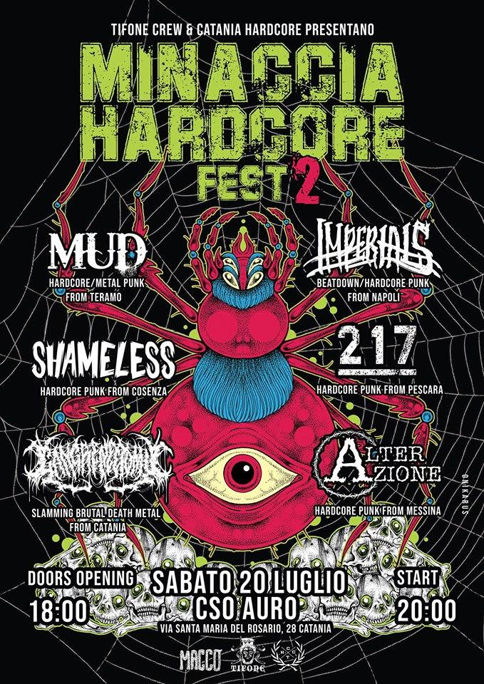 Minaccia Hardcore Fest Vol. 2: il 20 luglio a Catania, tutti i dettagli