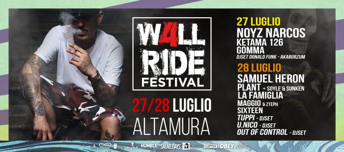 WALLRIDE FESTIVAL / 27 e 28 LUGLIO / ALTAMURA (BA)