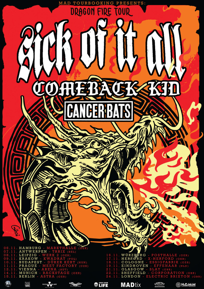 Comeback Kid to tour Europe w/ Sick Of It All