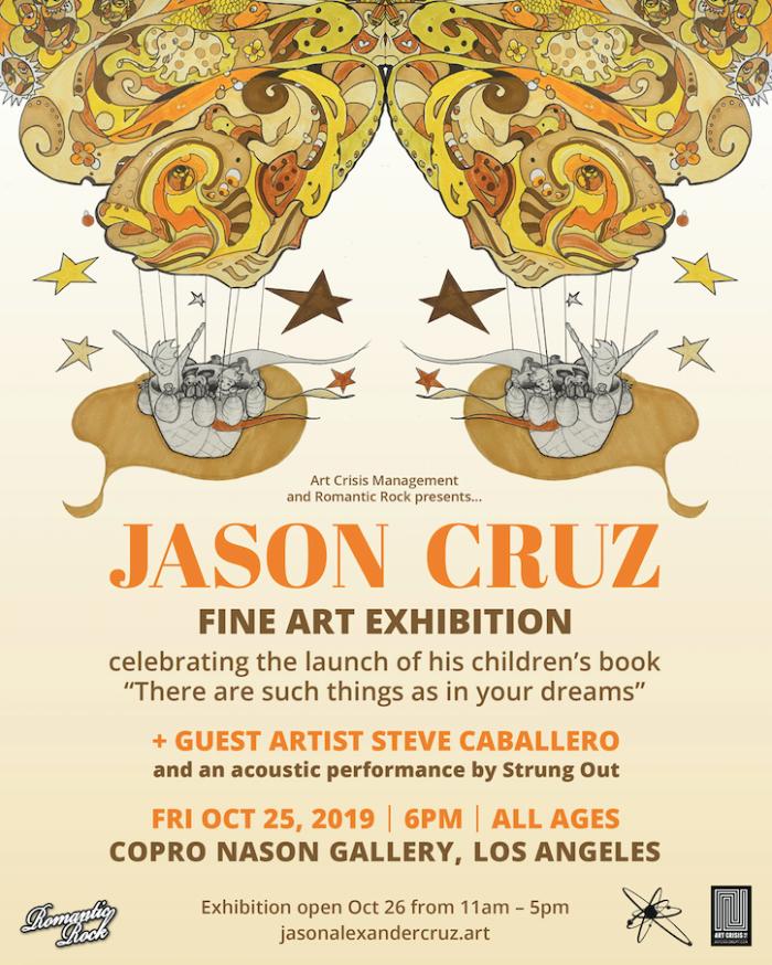 Punk Rock & Paintbrushes presents: artist Jason Cruz (frontman of Strung Out) Fine Art Exhibition
