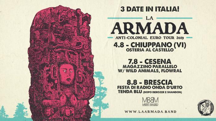 La Armada: live in arrivo a Vicenza, Cesena e Brescia!