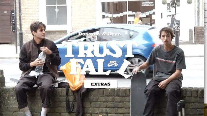 Nike SB | Donovon Piscopo & Daan Van Der Linden | 'Trust Fall' extras