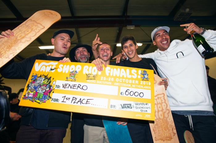 Venero crowned 2019 Vans Shop Riot Champions