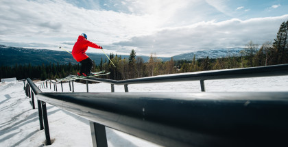 Jesper Tjader skiing during Unrailistic II in Are, Sweden on May 20, 2019