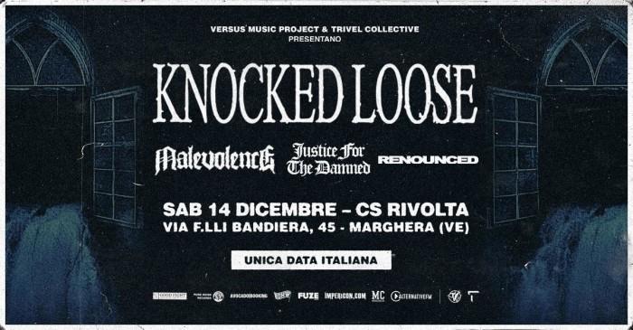 Knocked Loose: Questo Sabato per la prima volta in Italia. I dettagli dello show di Venezia
