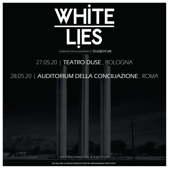 White Lies in Italia a Maggio!