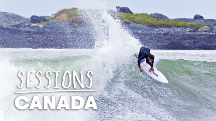 Andrew Mooney hits the road on Canada's East Coast in search of perfect hurricane surf