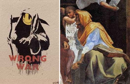 Banksy | Chiostro del Bramante | Raffaello