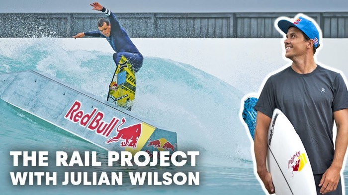 Julian Wilson turns a wave pool into a surfing skatepark | The Rail Project