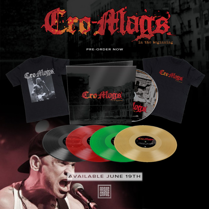 Cro-Mags – release music video for 'From The Grave' off their upcoming album 'In The Beginning'