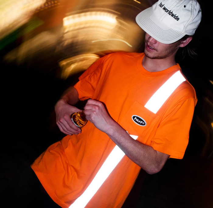 HUF The Reflective Saftey Tee