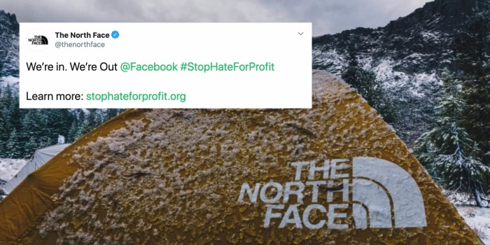 Patagonia & The North Face boycott Facebook Ads in support of #StopHateForProfits Campaign