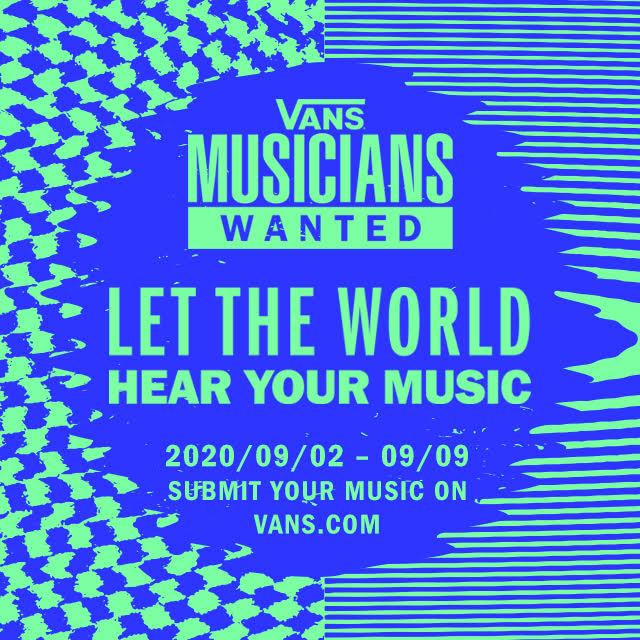 Vans lancia su scala globale il concorso musicale Musicians Wanted
