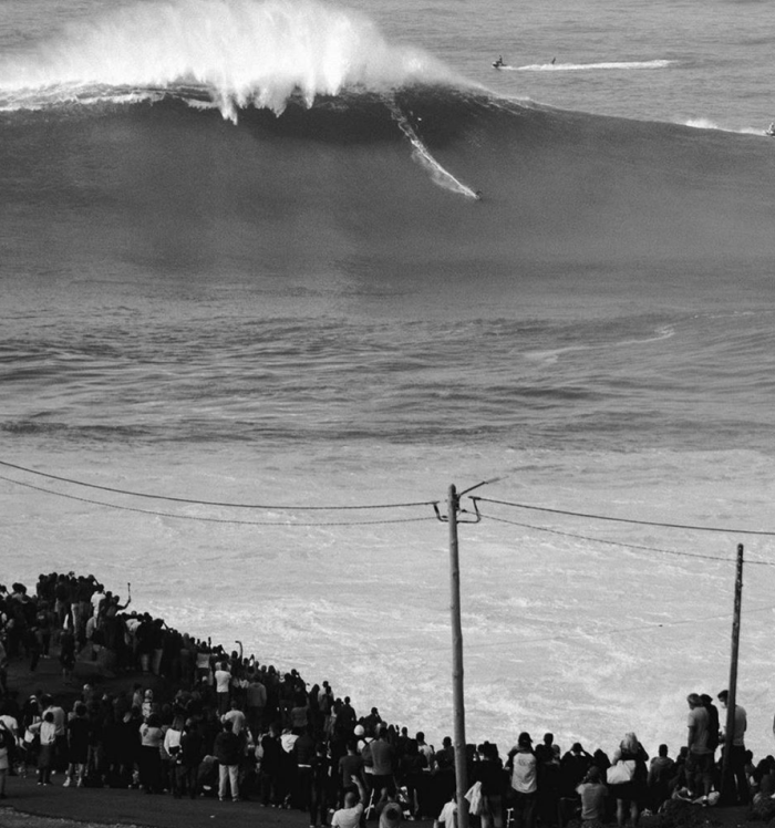 Big wave surfer Nic Von Rupp rides potentially the biggest waves ever surfed at Monster Nazaré