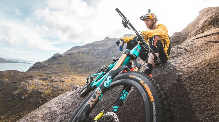 Danny MacAskill tackles nerve-wracking steep rock slabs on Isle of Skye