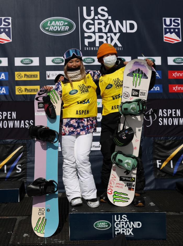 Chloe Kim and Yuto Totsuka take 1st Place in snowboard Halfpipe