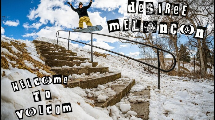 Welcoming Desiree Melancon to the Volcom Snow Team