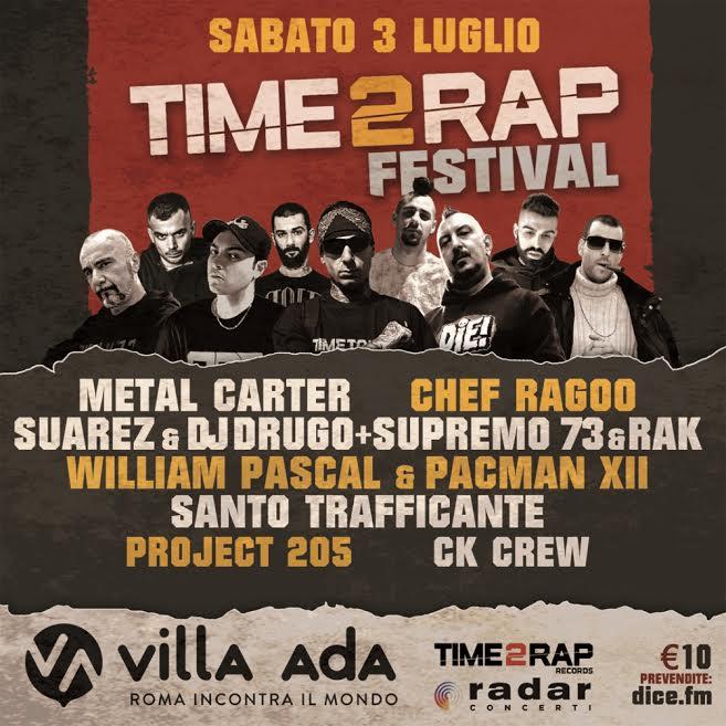 Time 2 Rap Festival, a Villa Ada il rap incontra il metal