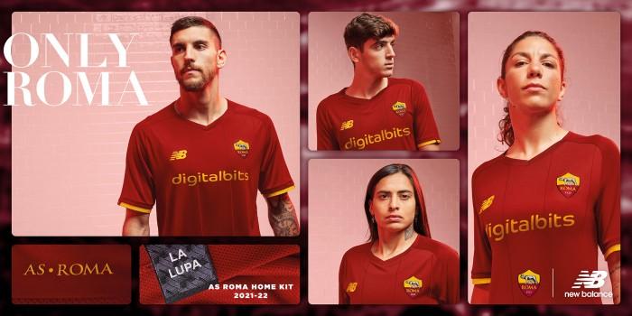 New Balance svela l'Home Kit AS Roma 21/22