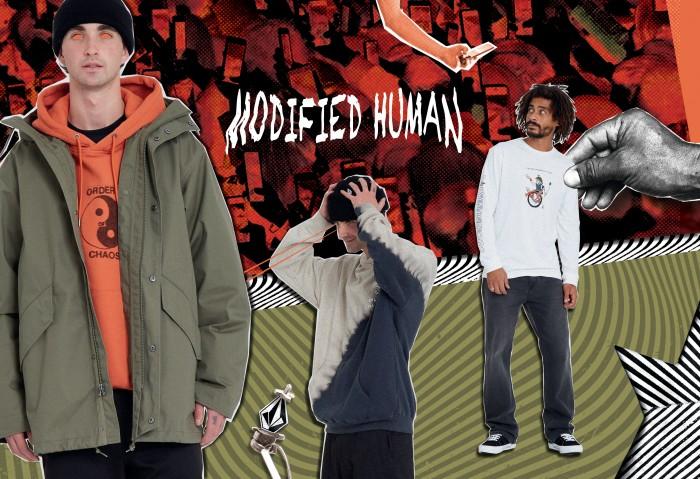 VOLCOM // MODIFIED HUMAN (FEATURED ARTIST: PENTAGRAM PIZZA))