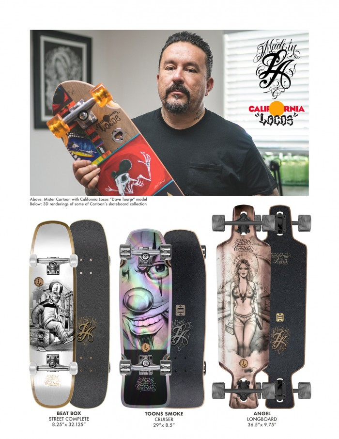 Mister Cartoon releases a limited skateboard collection with LA art group California Locos