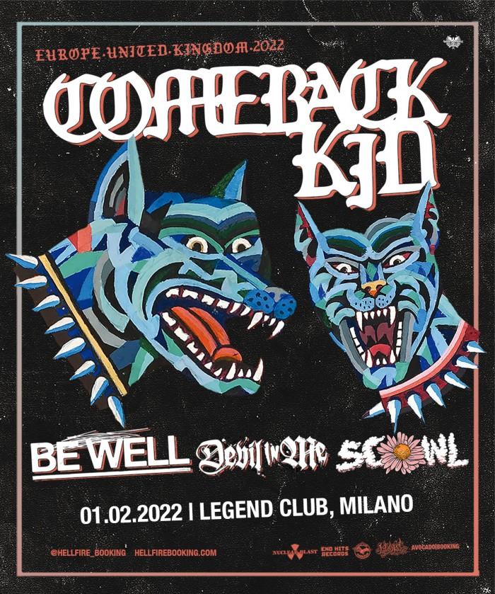 Comeback Kid: tappa a Milano!